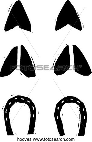 Hoof Prints Hooves Art Parts Photograph Royalty Free Clipart
