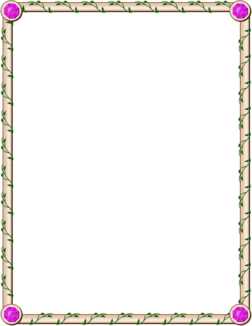 Jeweled Ivy Page Frame Border    Page Frames Floral Jeweled Ivy Page