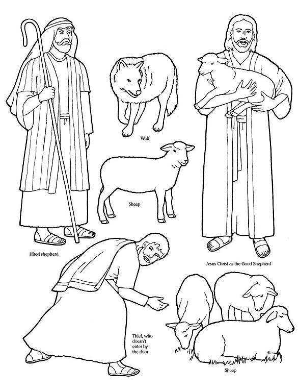 Ldslessonideas Wordpress Com  Good Shepherd Coloring Pages