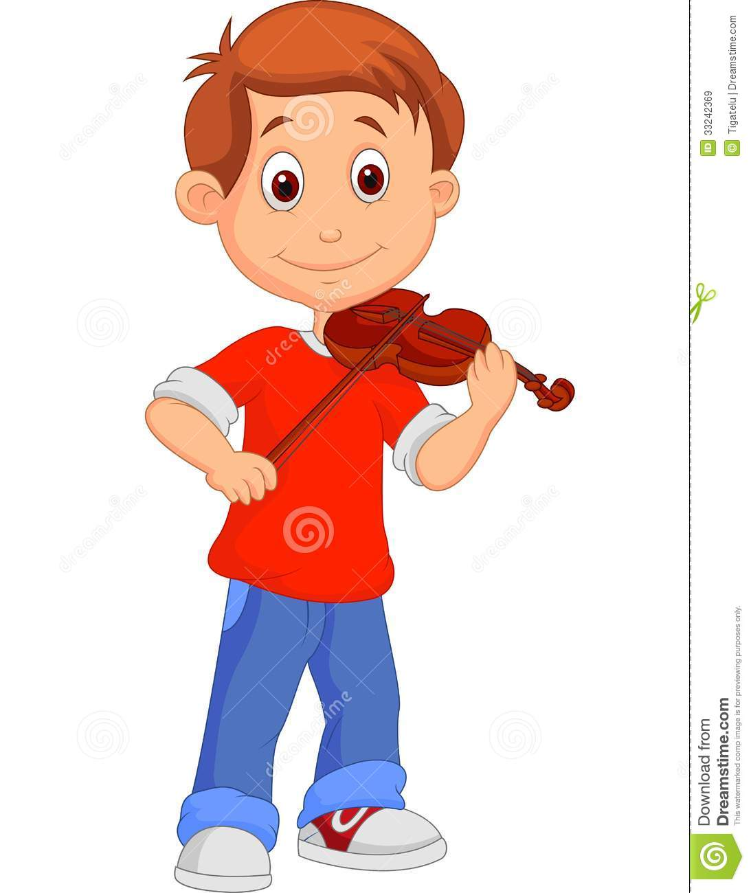 Violin Boy Clipart - Clipart Kid