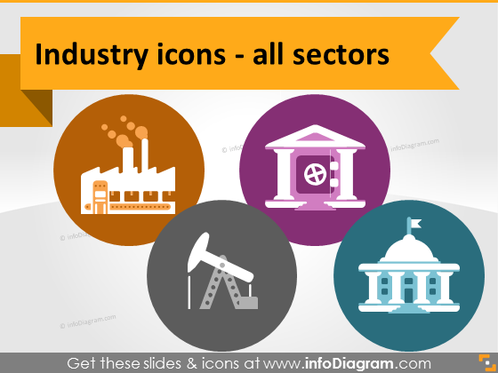 Production Services Resources Public Sector Symbols Flat Ppt Clipart