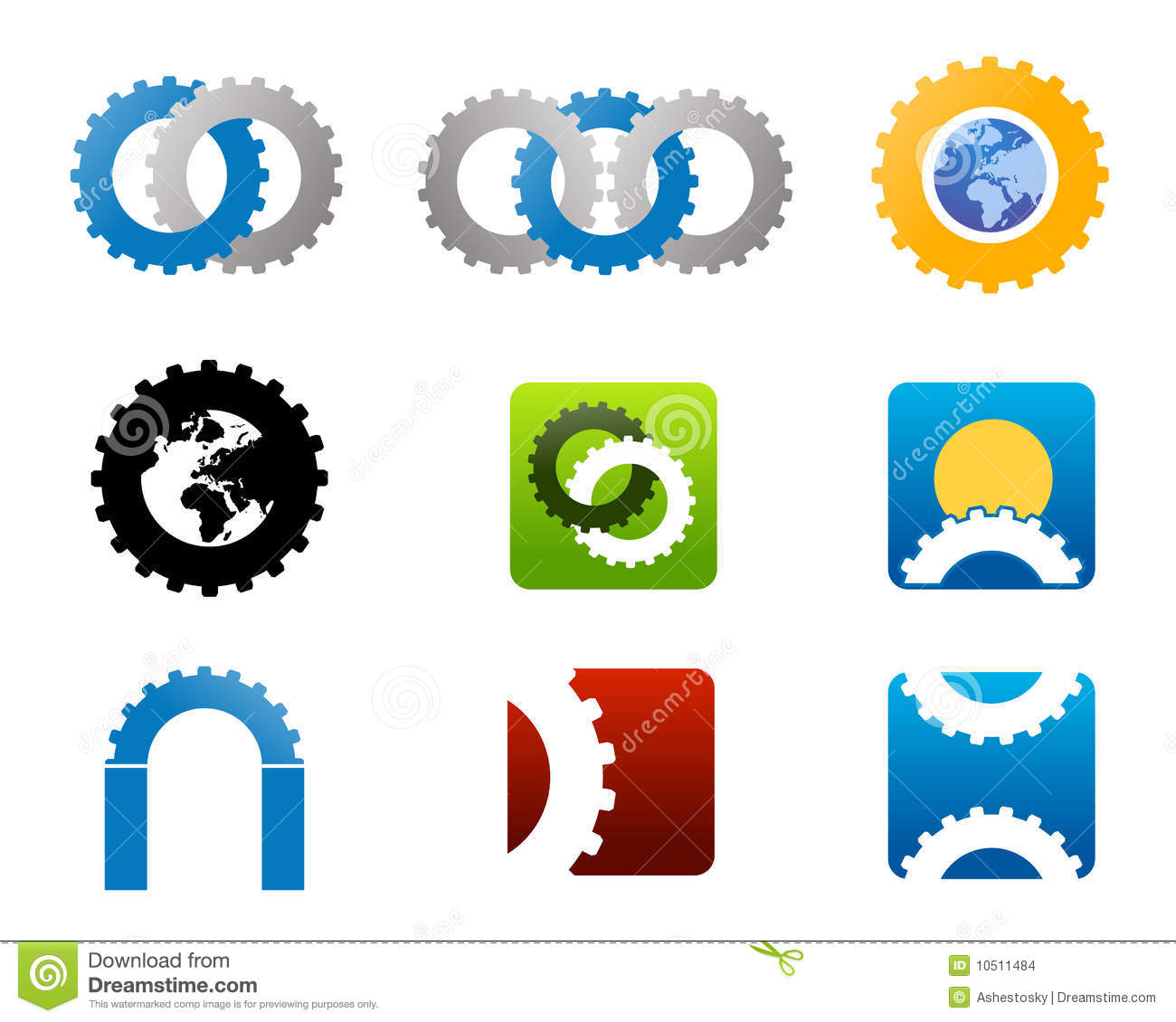 Vector Illustrations For Mechanical Manufacturing Logo And Brands