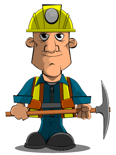 Free To Use   Public Domain Miner Clip Art