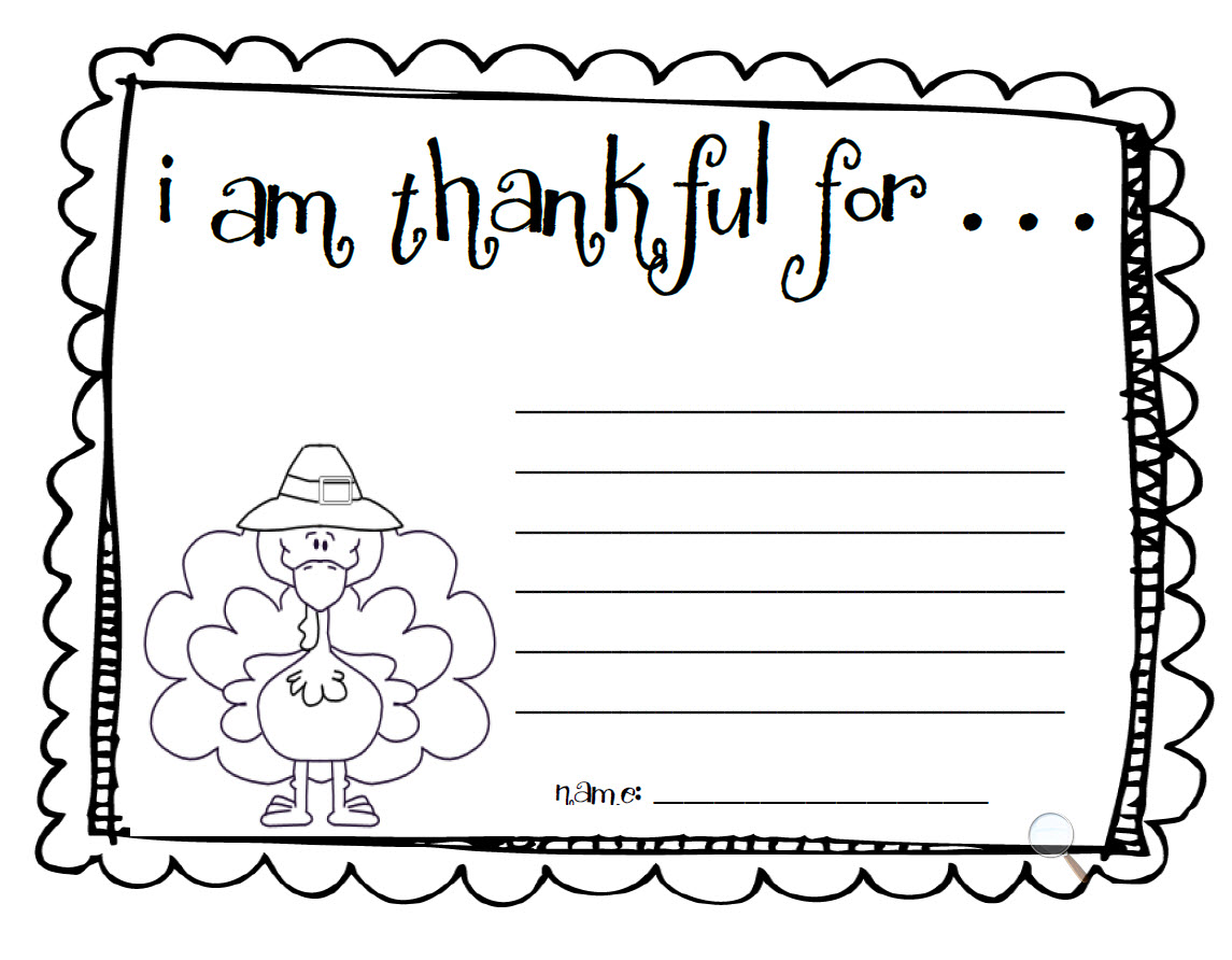 I Am Thankful For Thanksgiving Worksheets - Worksheets
