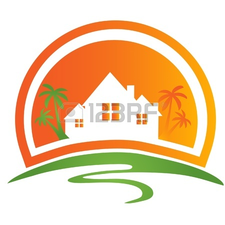 House Construction Logo 12379716 House With Palms Logo Jpg