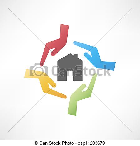 Illustration Of Concept Of Safe House Csp11203679   Search Clipart