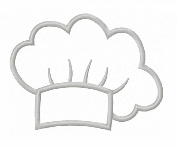 Instant Download Cook Chef Hat Applique Machine Embroidery Design No
