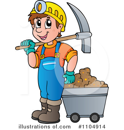 Miner Clipart  1104914 By Visekart   Royalty Free  Rf  Stock