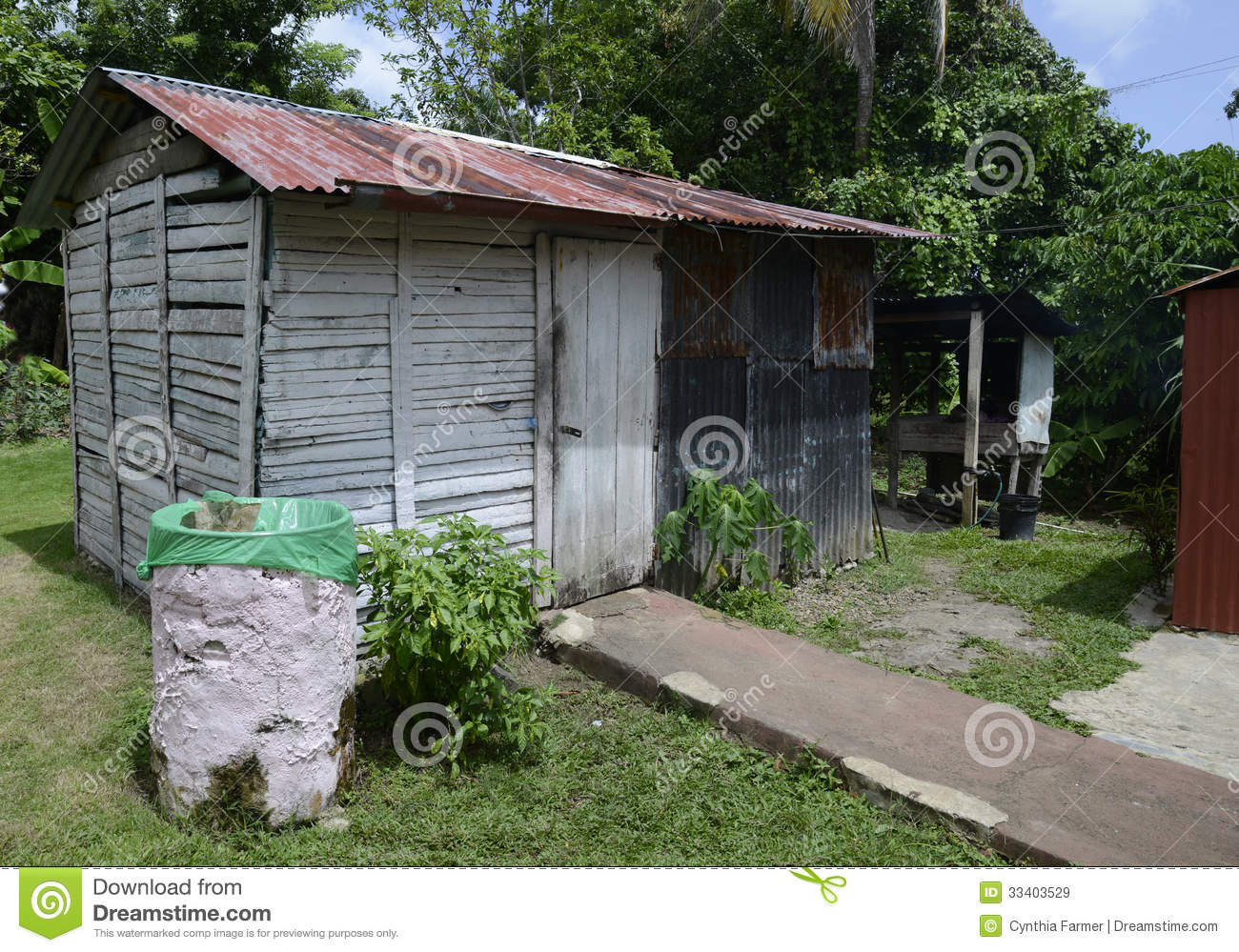 Old Metal And Wooden Shed Royalty Free Stock Images   Image  33403529