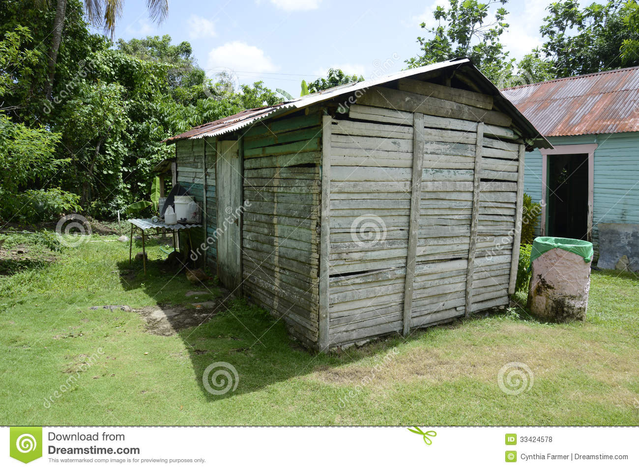 Old Metal And Wooden Shed Royalty Free Stock Photos   Image  33424578