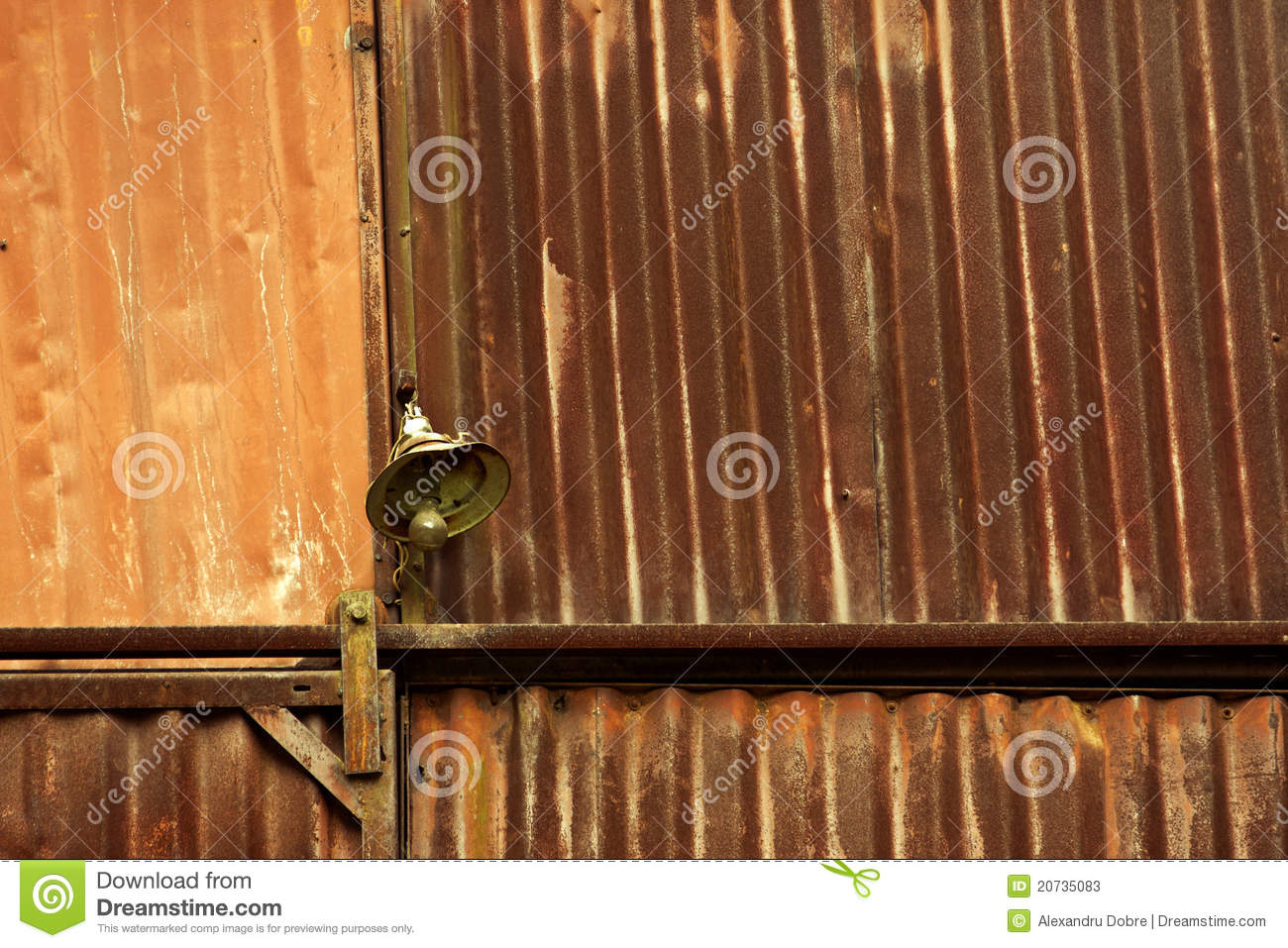 Old Rusty Metal Shed Lamp Stock Photos   Image  20735083