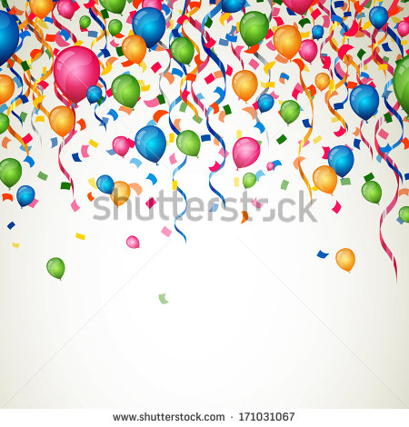 Party Balloons With Ribbons Loop Rotate On Black Background Hd Stock