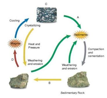 Rock cycle clipart clipart suggest for Formation of soil diagram