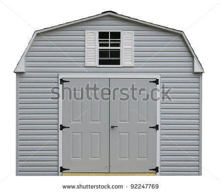 Storage Shed Clipart A Nice New Gray Storage Shed