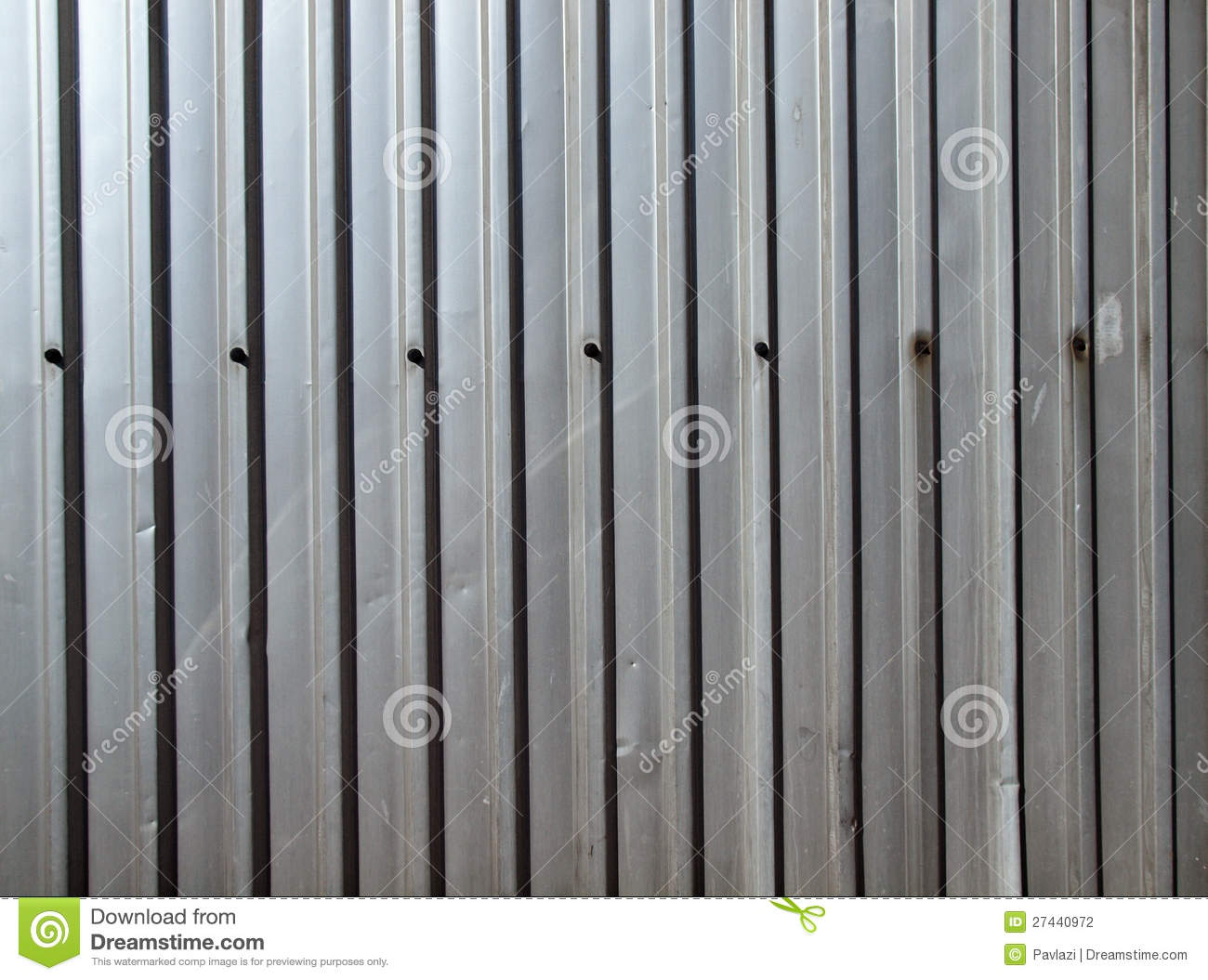 The Grey Metal Wall Of A Shed Stock Photography   Image  27440972