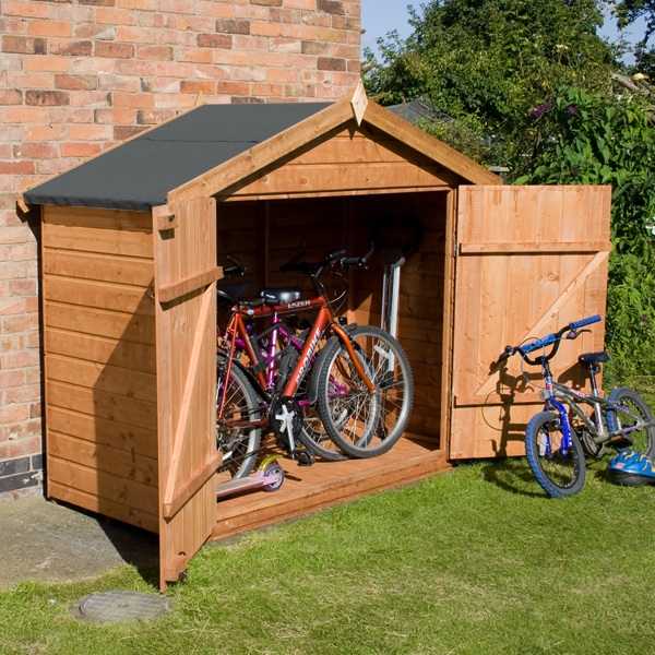 Waltons Tongue And Groove Apex Wooden Bike Shed