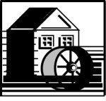 Water Mill Wheel Clipart Watermill Buildings