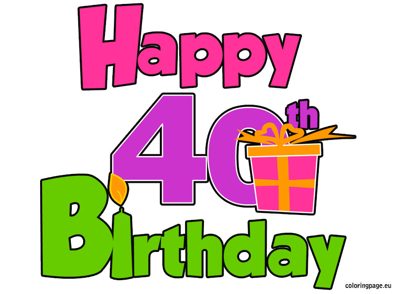 40th Birthday For Women Clipart - Clipart Suggest