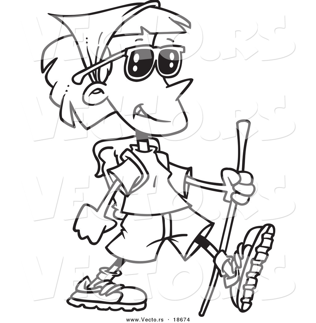Hiker Colouring Pages