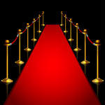 Lights Going Off Red Carpet Red Carpet With Gold Stage