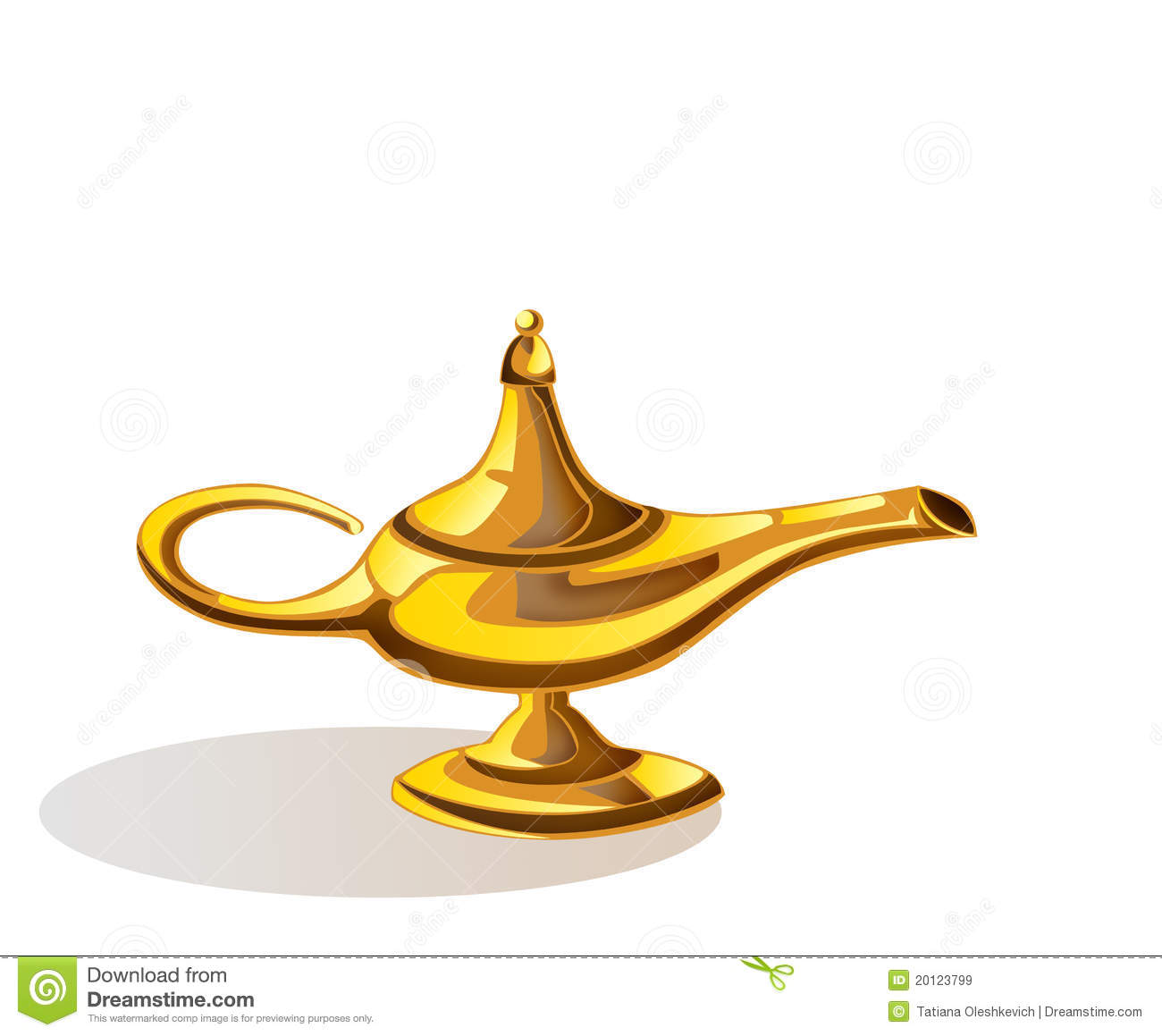Magic Lamp Of Aladdin Royalty Free Stock Images   Image  20123799