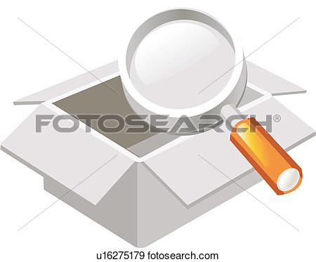 Magnifying Glass Case Casket Chest Packing Case Parcel Icon View