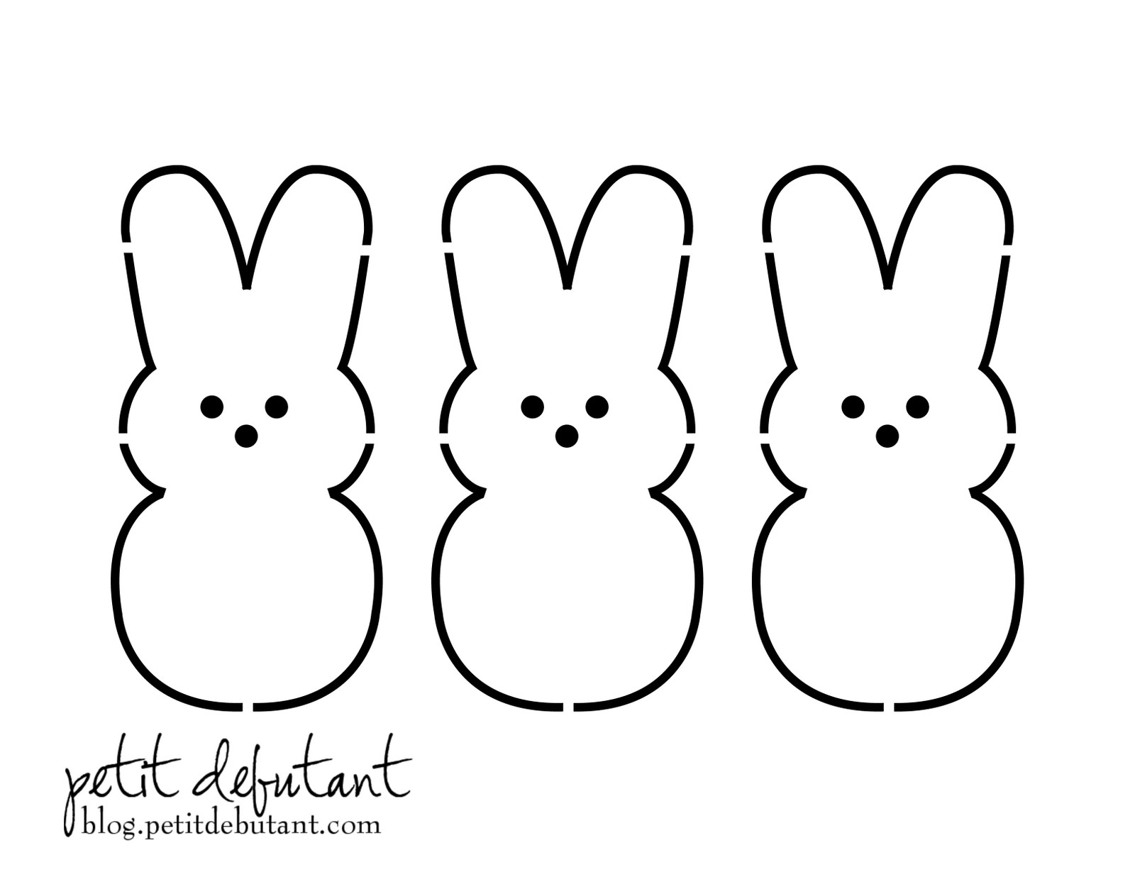 Petit Design Co  Bunny Peeps Shirt Stencil