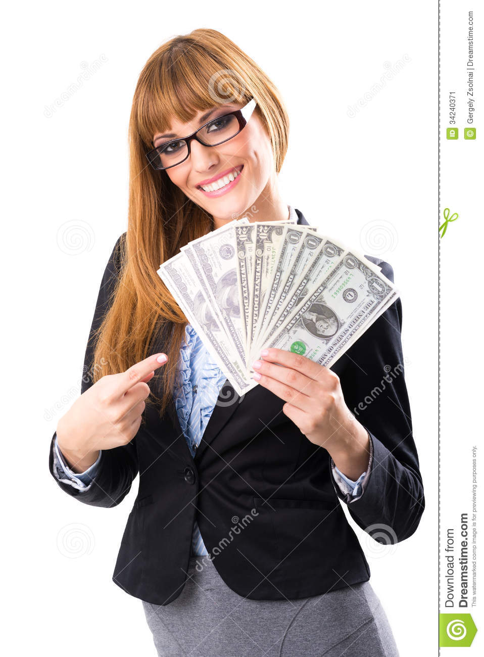 Rich Woman Clipart Rich Business Woman Holding