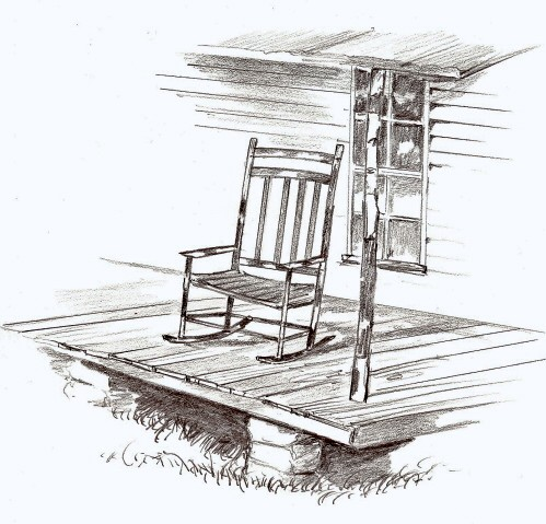Rocking Chair On Porch Clipart Here On My Big Back Porch