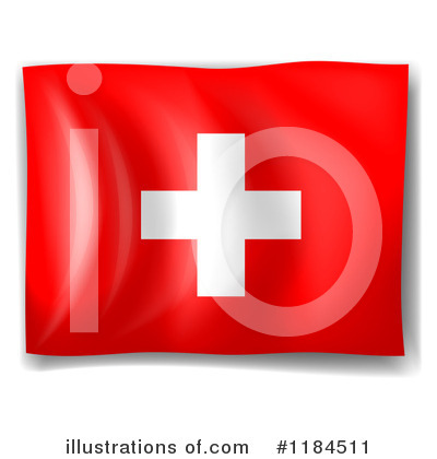 Royalty Free  Rf  Swiss Flag Clipart Illustration By Colematt   Stock