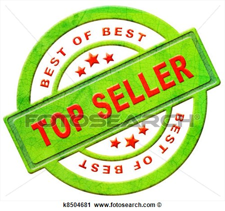 Top Seller Icon Bestseller Best Seller Red Text On Green Button For