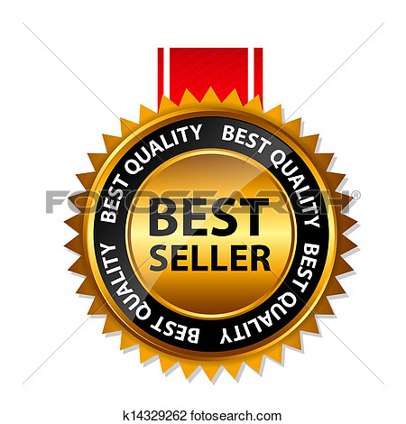 Vector Best Seller Gold Sign Label Template View Large Clip Art
