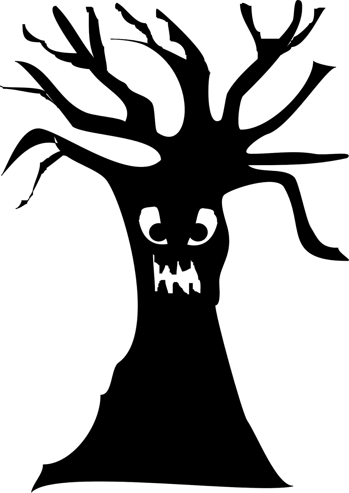 10 Scary Tree Silhouette Free Cliparts That You Can Download To You