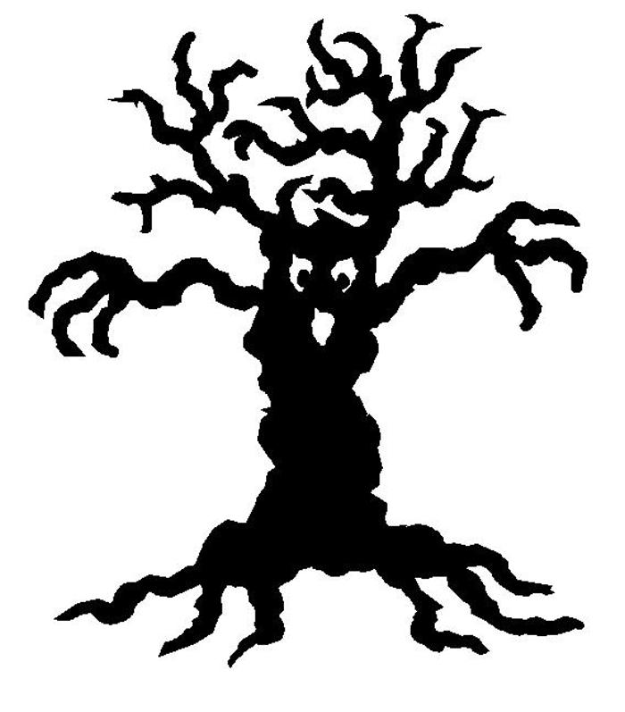 spooky tree clipart