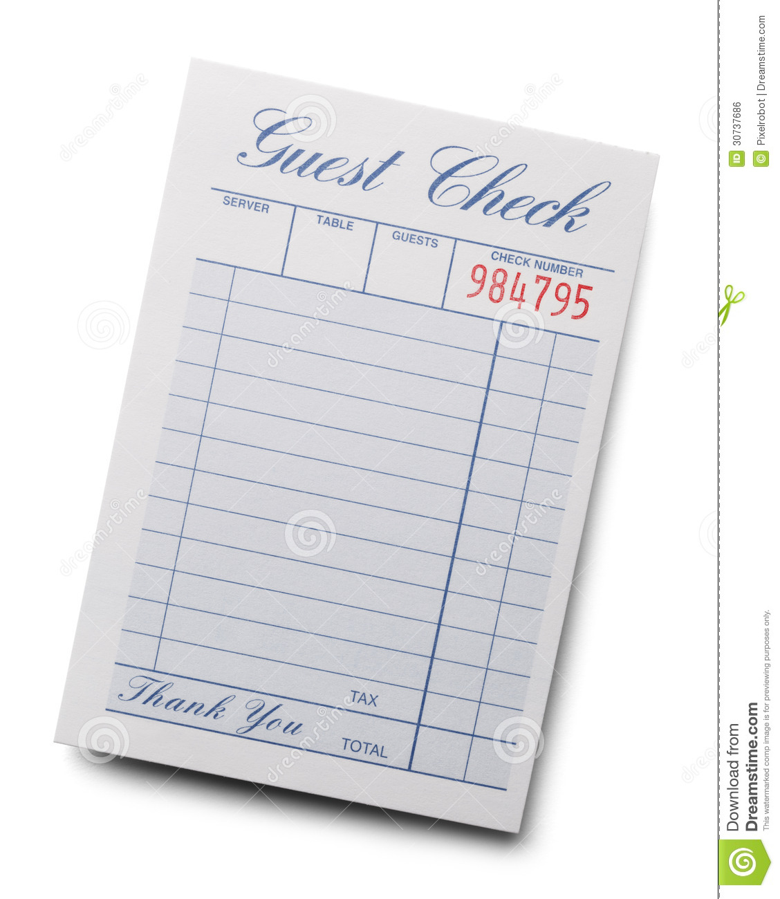 Restaurant receipt Stock Illustration Images. 277 ... |Restaurant Receipt Clipart