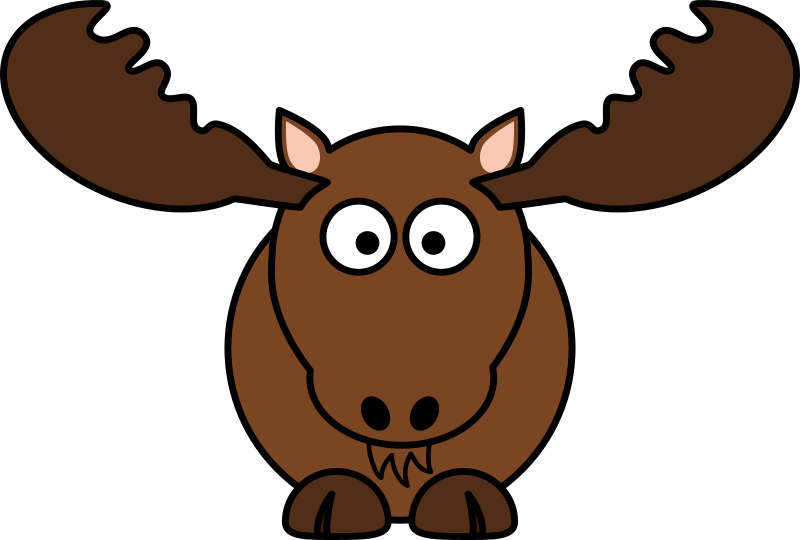 Cartoon Moose By Studiofibonacci   Cartoon Moose  North America  In