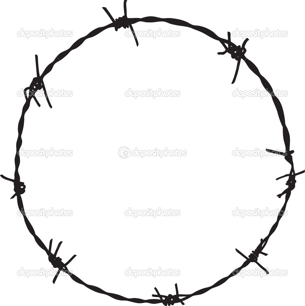 Displaying 19  Images For   Circle Barbed Wire Border