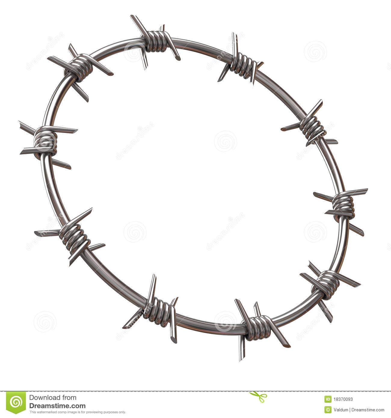 barbed wire clipart circle