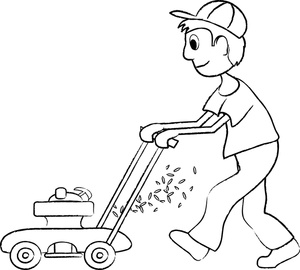 Man Mowing Clipart - Clipart Kid