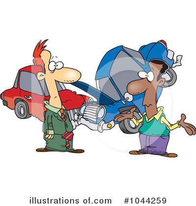 Royalty Free  Rf  Car Accident Clipart Illustration By Ron Leishman