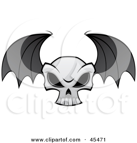 Royalty Free  Rf  Clip Art Illustration Of An Evil Skull With Dark Eye