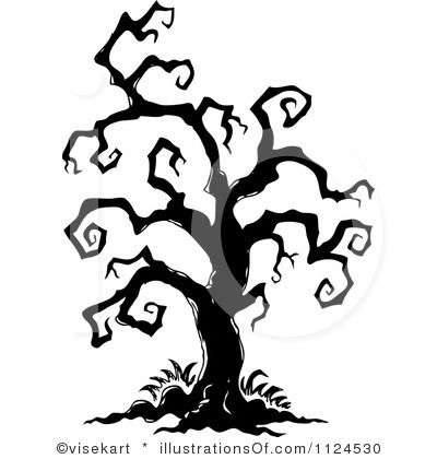 Wallpaper Scary Tree Clipart