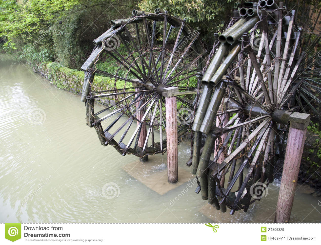 Waterwheel Royalty Free Stock Images   Image  24306329