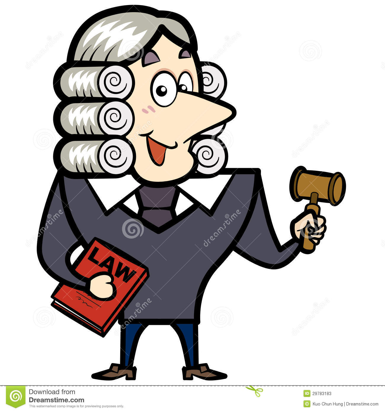 Cartoon Judge With A Gavel And Law Book Stock Photos   Image  29783183