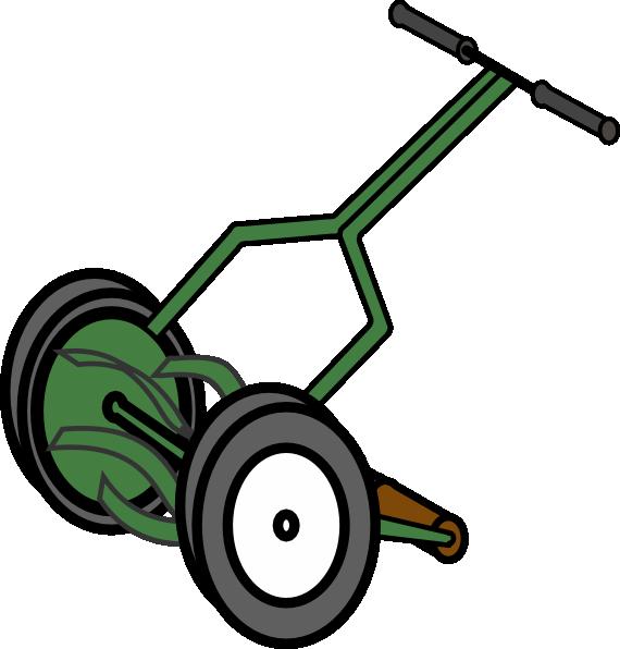Cartoon Push Reel Lawn Mower Clip Art At Clker Com   Vector Clip Art