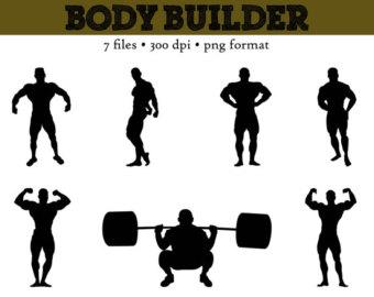 Clip Art    Muscle Silhouettes    Muscle Men    Strongest Man Clip Art