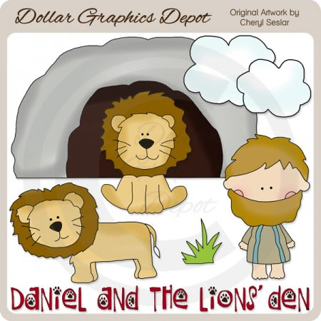 Daniel And The Lions  Den   Clip Art    1 00   Dollar Graphics Depot