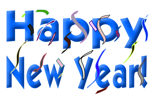 Happy New Year Words   Http   Www Wpclipart Com Holiday New Year Happy