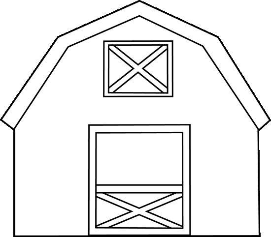 Barn Outline Clipart - Clipart Kid