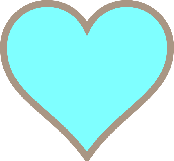 Clip Art Line Of Hearts : Teal heart clipart suggest